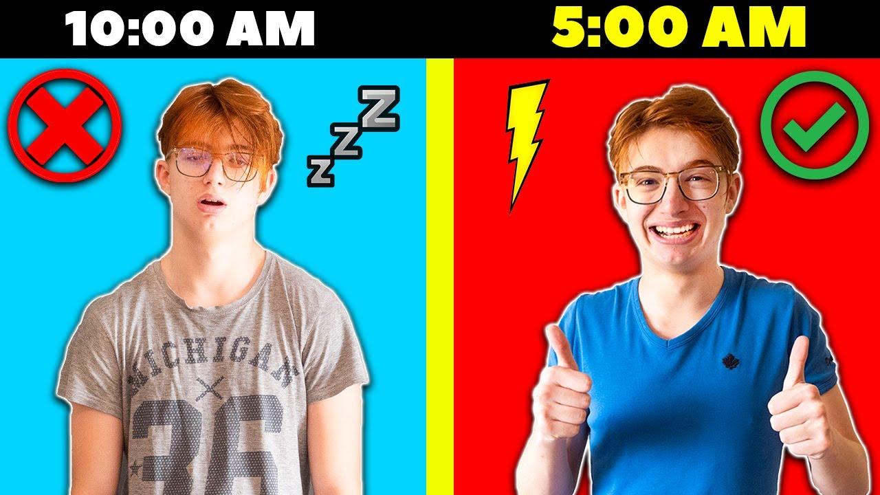 Η ΚΑΛΥΤΕΡΗ Πρωινη Ρουτινα VS Η ΧΕΙΡΟΤΕΡΗ Πρωινη Ρουτινα! (ΑΣΤΕΙΟ ΣΚΕΤΣΑΚΙ) *ΞΥΠΝΑΩ στις 5 το ΠΡΩΙ?