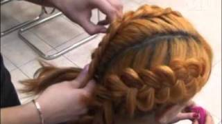 Мастер класс по плетению косичек коса вечерняя(Коса вечерняя растрепанная Коса также с успехом может стать неповторимой вечерней прической. Для этого..., 2011-11-30T08:37:45.000Z)