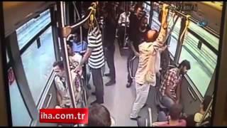 Metrobüs ile cipin kaza anı kamerada