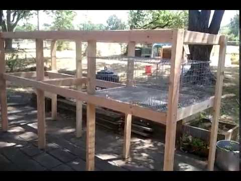 Build a Rabbit Hutch: Completed Frame - YouTube