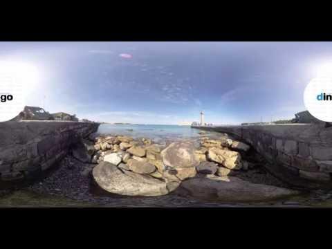 360° Video of Mandraki Harbor in Rhodes, Greece