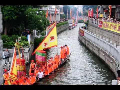 Défilé des bateaux dragons à Liwan