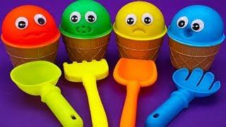 四個可愛的冰激凌娃娃| 寶寶玩具 | 兒童玩具 | 玩具巴士|學顏色|學數數