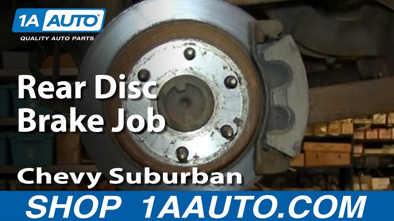 How To Do a Rear Disc Brake Job 200006 Chevy Suburban Tahoe GMC Yukon  YouTube