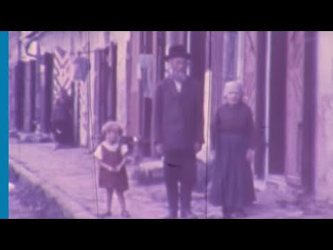 Rare Color Footage Depicting Jewish Life in the Shtetl Before the Holocaust