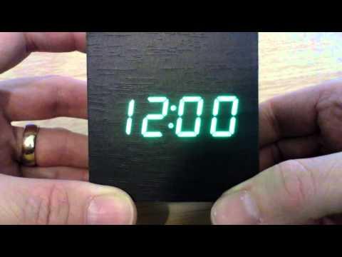 Wooden LED usb alarm clock Ebay