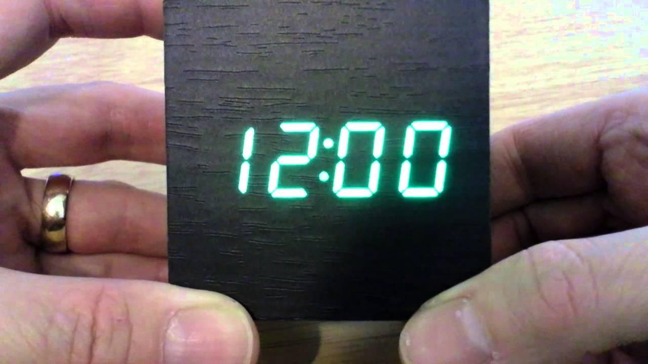 ostaa jaloilla kenkäkauppa Wooden LED usb alarm clock Ebay