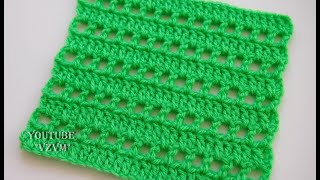 Простые узоры крючком Узор 3     Simple patterns crochet Pattern 3
