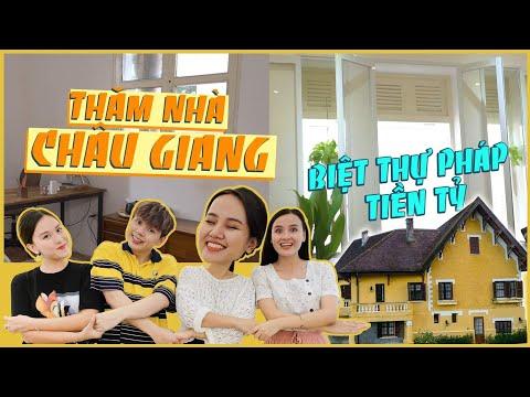 Nhà Vlog: Thăm nhà Châu Giang - Cô nàng độc thân ở biệt thự Pháp ???