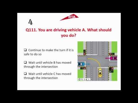 Part 6 - RTA Theory Test 2017 Practice LMV Light Motor Vehicle Dubai UAE (English)