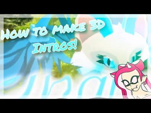 How to make 3D intros! | Tutorial commission for Snøw AJ!
