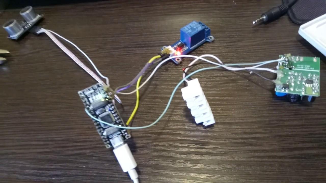 Автоматика ванной комнаты на базе ардуино + ультразвуковой датчик включения света