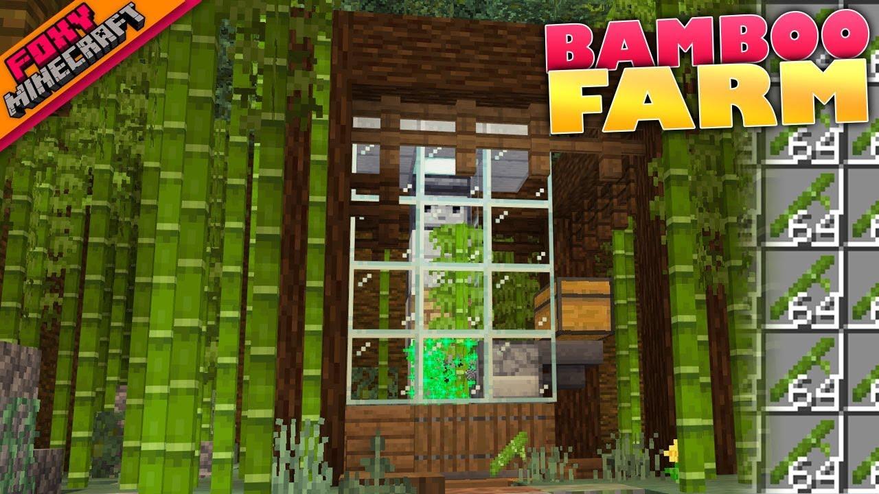 Minecraft  BAMBOO FARM  Bedrock Survival Realm [10]