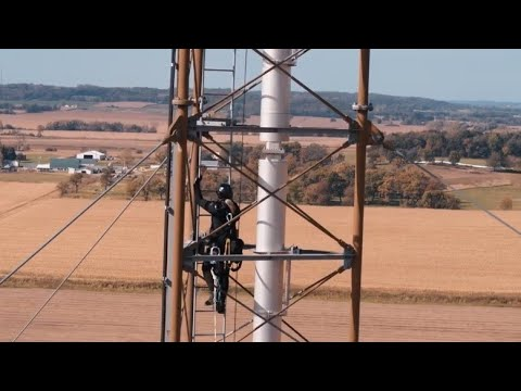 Tower Climbing Rescue And Tower Safety Training From A 1200' Cell Tower