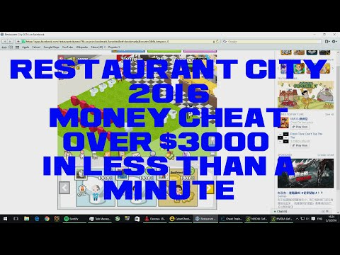 Restaurant City 2016/Restaurant Express-Money Hack Over ($3K/Minute) [100%WORKING] [Unlimited]