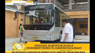 Eco-friendly hybrid bus rolled out in Makati