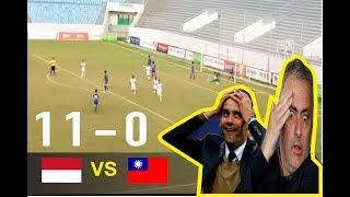 Highlights: Indonesia U16 11 vs 0 ChinaTaipei U16   Tiền Phong Nhựa Cup 2017   18.6.2017