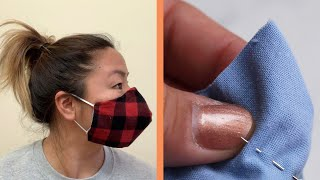 face mask making at home easy | 2 Layers face mask with paper | face mask kaise banaye