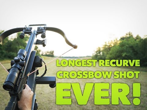 MAX DISTANCE - How Far Will A Modern Recurve Crossbow Shoot?