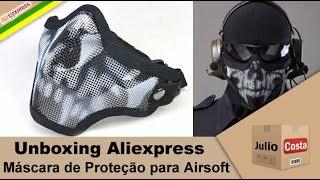 Unboxing Aliexpress - Máscara de Proteção para Airsoft