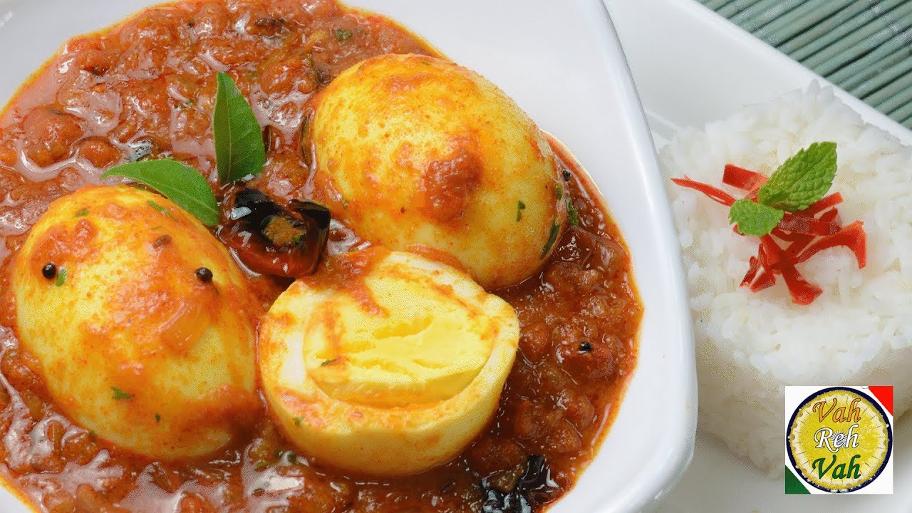 Simple Egg Curry with Pressure Cooked Onion Tomato Gravy - By Vahchef ...