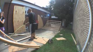Time Laspe: Bmx Building A Quarter Pipe