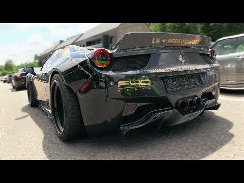 Liberty Walk Ferrari 458 Spider W Armytrix Exhaust System Loud Revs Youtube