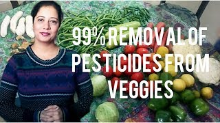 Removal Of 99% Pesticides From Veggies||Clean And Store Veggies