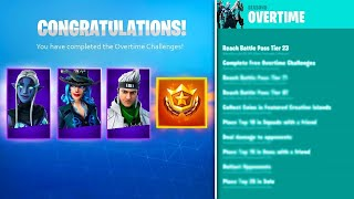 *NEW* FORTNITE OVERTIME CHALLENGES in Fortnite! (Free Season 9 Battle Pass)