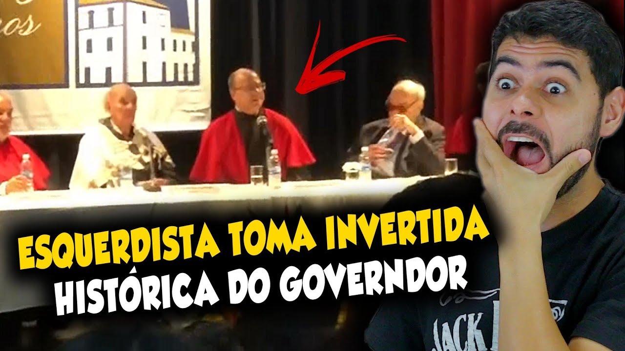 Esquerdista toma invertida histórica do governador do RJ