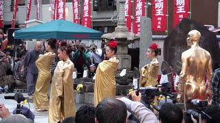 Repeat youtube video 第36回 大須大道町人祭「大駱駝艦」in大光院 金粉ショー