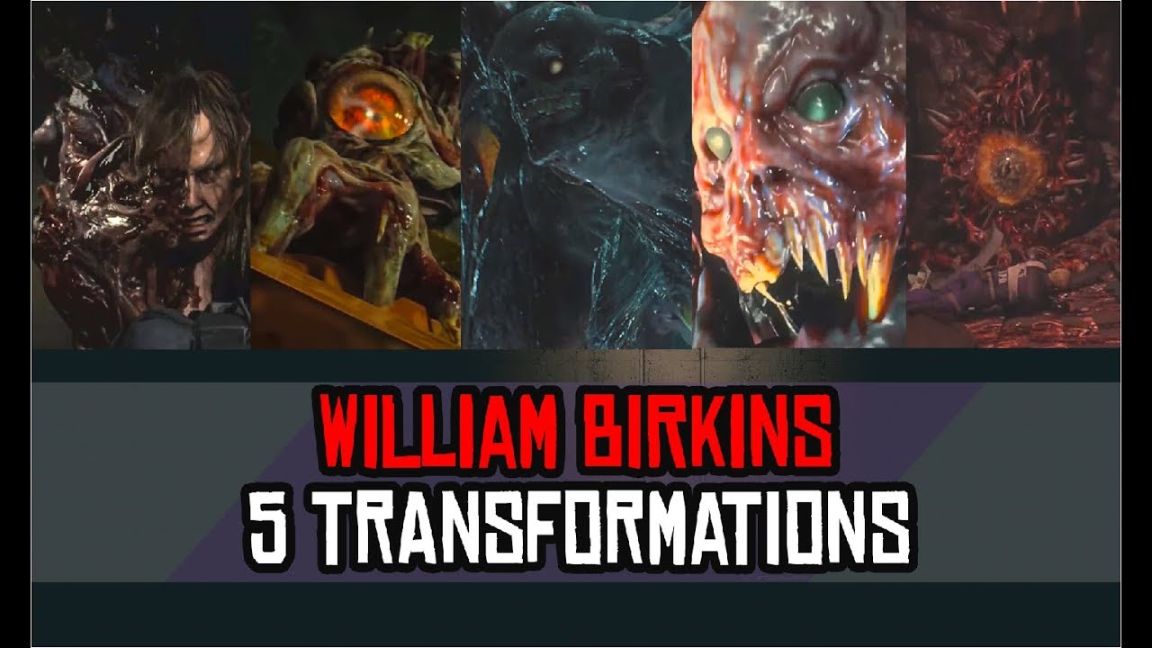 William Birkin All Transformations Boss Battle In Order