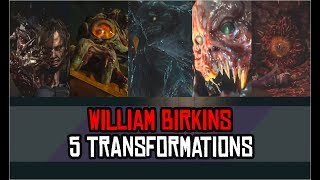 WILLIAM BIRKIN ALL TRANSFORMATIONS BOSS BATTLE (In Order) - Resident Evil 2 Remake