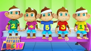 Five Little Monkeys | Kids Songs | Infant Rhymes thumbnail