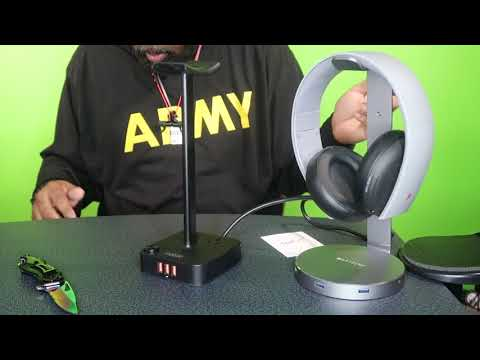Coozo Headphone Stand with USB Charger unboxing and review!!!