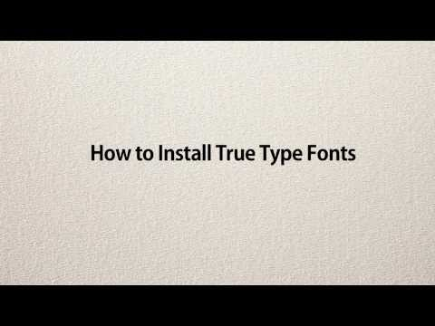 Как установить шрифт TrueType