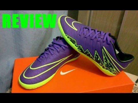 Review - Chuteira de Futsal Nike Hypervenom Phelon II   Roxa e verde ... cf1cfa6947e7a