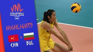 CHINA vs. BULGARIA - Highlights Women   Week 5   Volleyball Nations League 2019