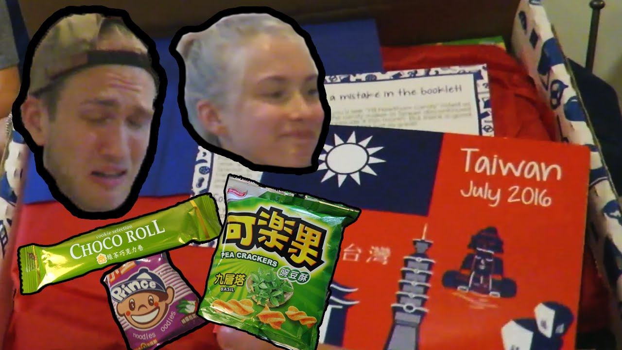 trying food from taiwan with my sister - youtube