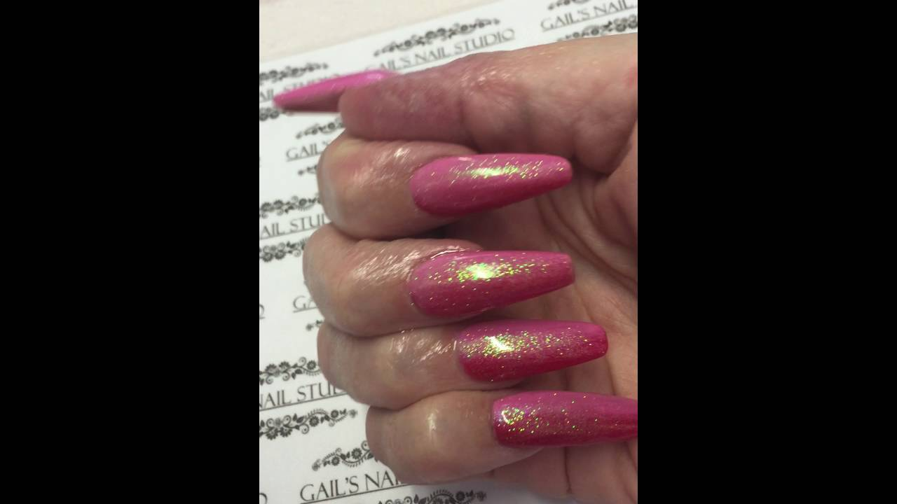 Ombra nails with fairy dust - YouTube
