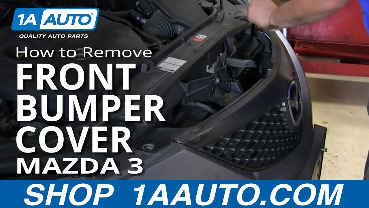 how to install remove replace front bumper cover mazda 3 youtube rh youtube com 2008 Mazda 3 Headlight Bulb Replacement 1998 Mazda Protege Headlight Bulb