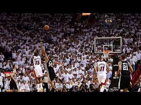 Mario Chalmers buzzer-beating bank shot in Game 7!