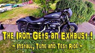 The Iron Gets an Exhaust! - Install, Tune & Test! - Iron 883    TechTalk