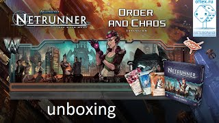Android Netrunner. Order and Chaos expansion unboxing and card evaluation