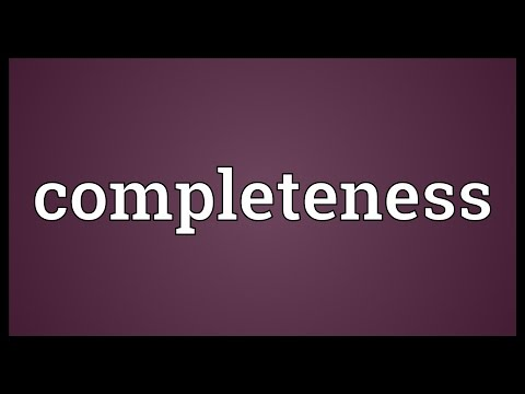 Completeness Meaning