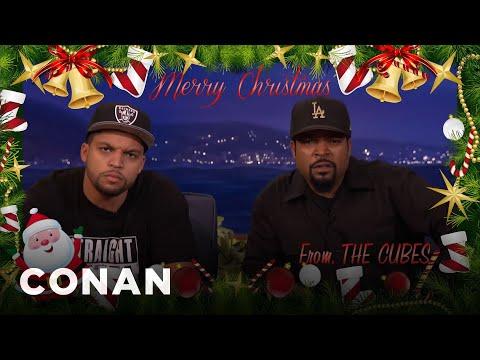 The Ice Cube Family Christmas Card - CONAN on TBS - YouTube