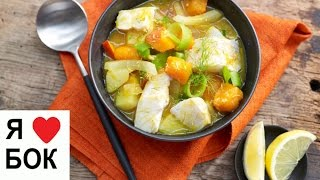 Рыбный суп из трески. Диетический тыквенный суп