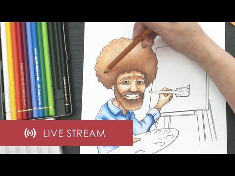 coloring-jazza's-bob-ross-|-livestream