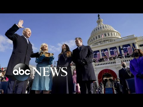 Joseph R. Biden, Kamala Harris sworn in