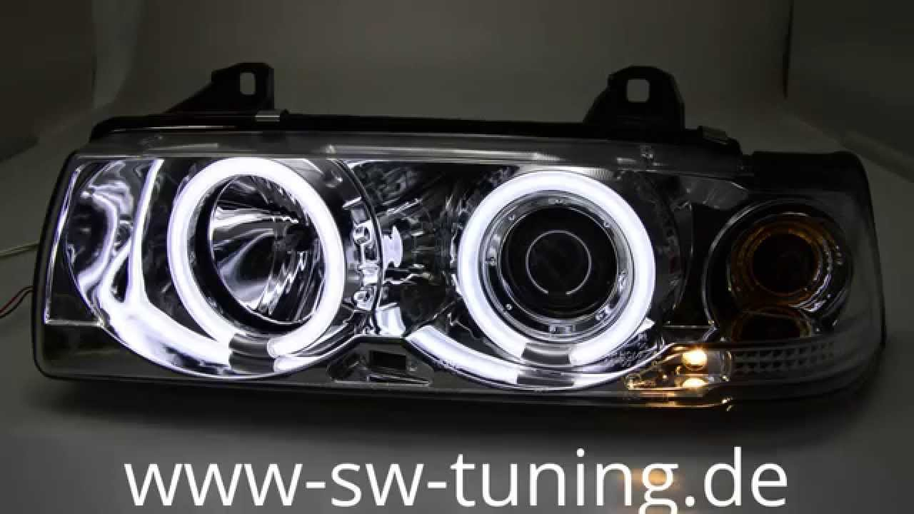 sw ccfl angel eye scheinwerfer bmw 3er e36 limo chom sw. Black Bedroom Furniture Sets. Home Design Ideas